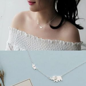 NEW 925 STERLING SILVER PLATED ELEPHANT NECKLACE